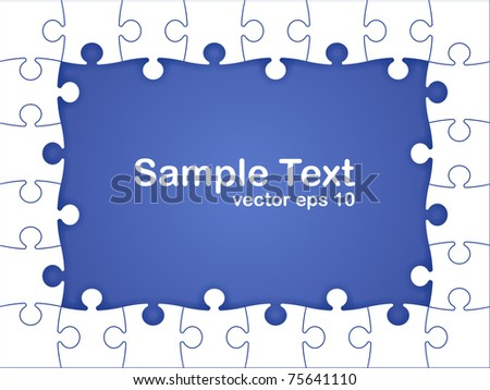 abstract puzzle background, vector eps 10 - stock vector