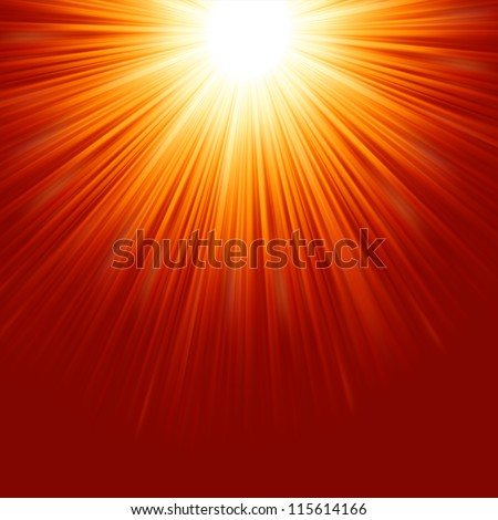 Abstract radiant star. EPS 8 vector file included