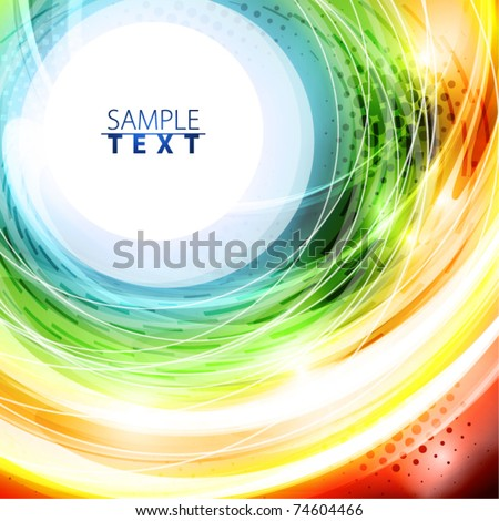 Abstract rainbow background. Vector - stock vector
