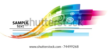 Abstract rainbow colored background with place for text - stock vector
