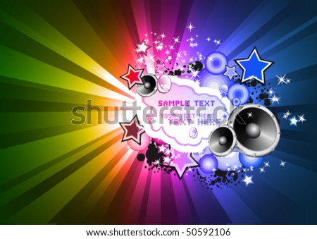 Abstract RAinbow Colorful Disco Background for Flyers - stock vector