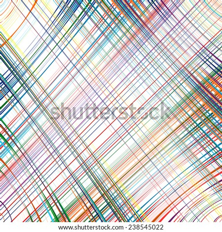 Abstract rainbow curved stripes color line art vector background - stock vector