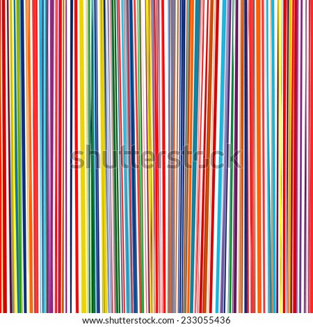 Abstract rainbow curved stripes color line vertical background - stock vector