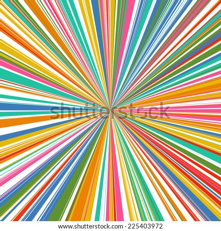 Abstract rainbow curved stripes color line zoom background  - stock vector