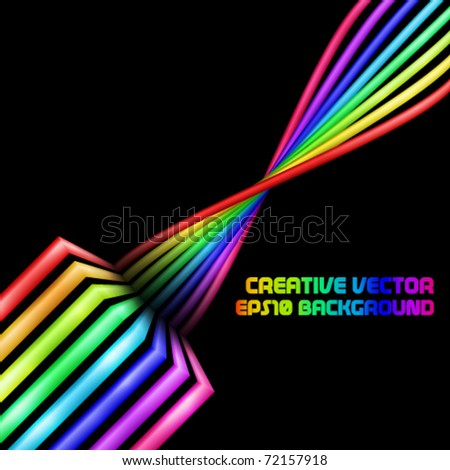 Abstract rainbow 3d swirl background
