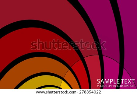 Abstract rainbow lighted vector background illustration - Abstract curved and striped vector background template - stock vector