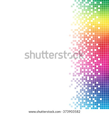 Abstract rainbow mosaic vector template with white copy space. - stock vector