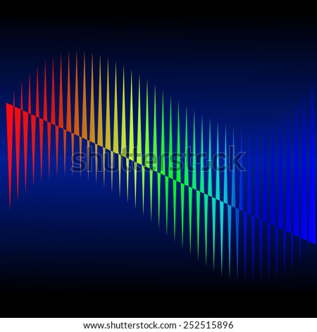 Abstract rainbow on a background