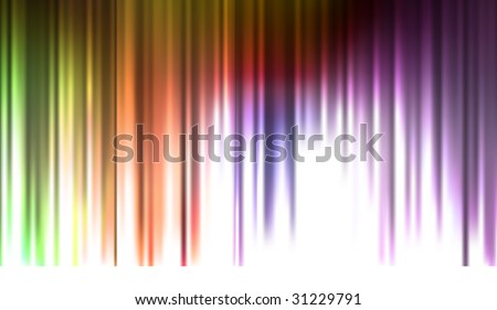 Abstract Rainbow Stripes Background (Vector) - stock vector