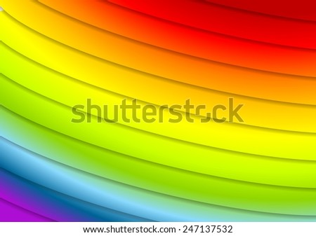Abstract rainbow stripes background. Vector design