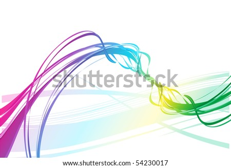 abstract rainbow wave line with space of your text, vector illustration - stock vector