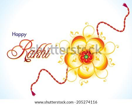 abstract raksha bandhan background vector illustration - stock vector