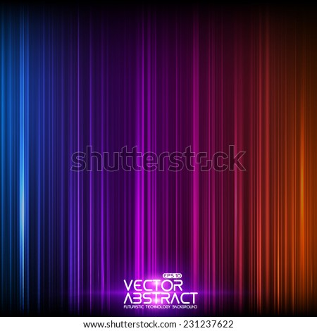 Abstract random glowing lines background. Colorful stripes. Technological cyberspace background.