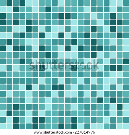 Abstract Random Tile of Pastel Blue Colors of Various Tones and Saturation. - stock vector