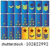 abstract rank insignia - stock vector