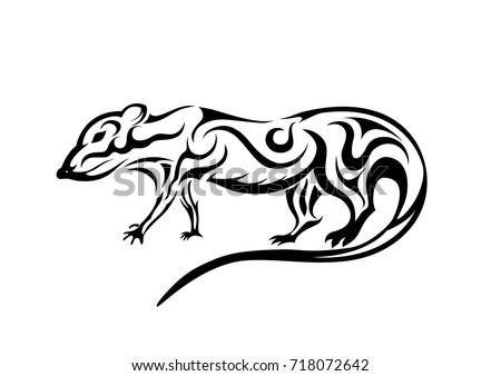 Line Drawing Rat : Abstract rat stock vector 718072642 shutterstock