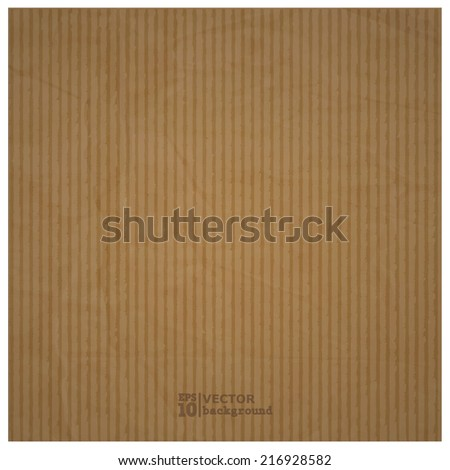 Abstract realistic cardboard background texture. Eps10 vector illustration  - stock vector
