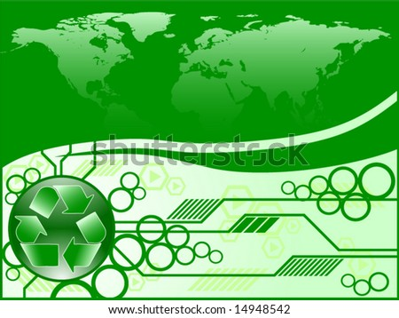 abstract recycling concept - stock vector