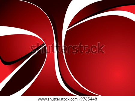 Abstract red and black background with room to add text - stock vector