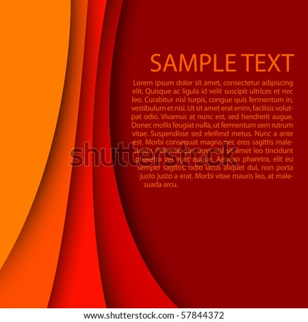 abstract red background - stock vector