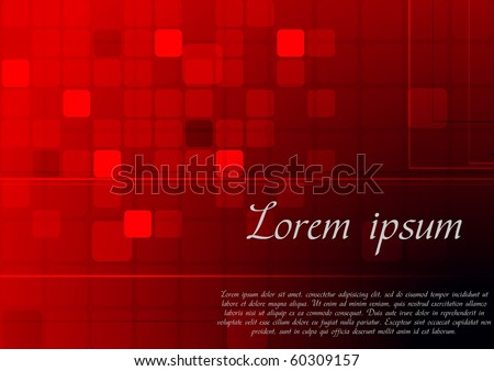 Abstract red background - eps 10 vector illustration - stock vector