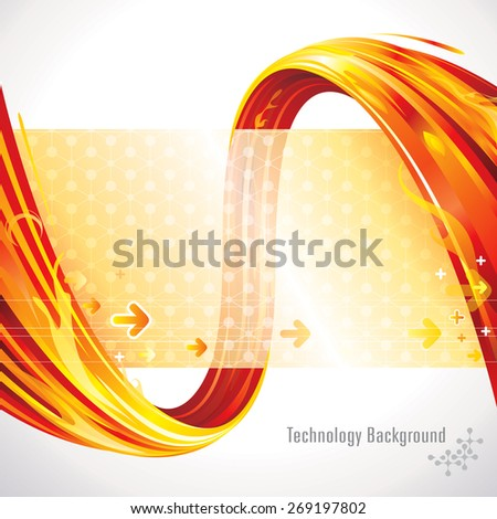 Abstract red background of technology connections. - stock vector