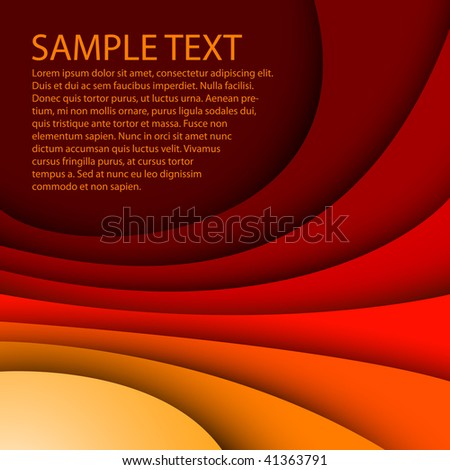 Abstract red background with custom text - stock vector