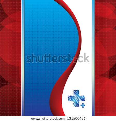 Abstract red blue grid medical background - stock vector