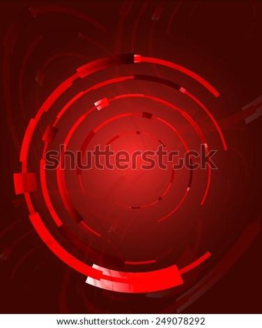 Abstract red bright circles - stock vector