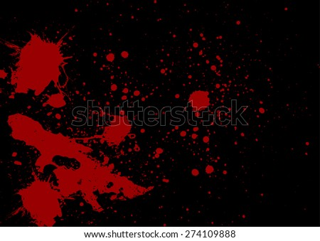 abstract red color splatter on black stock vector 274109888