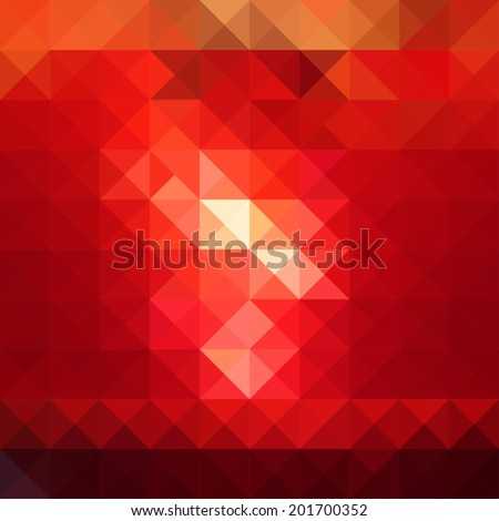 abstract red colored polygonal geometric background - stock vector