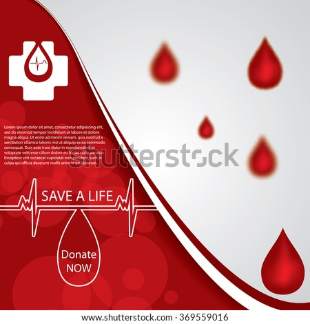 Abstract red donate blood medical background  - stock vector