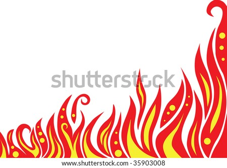 abstract red flame background vector (series) - stock vector