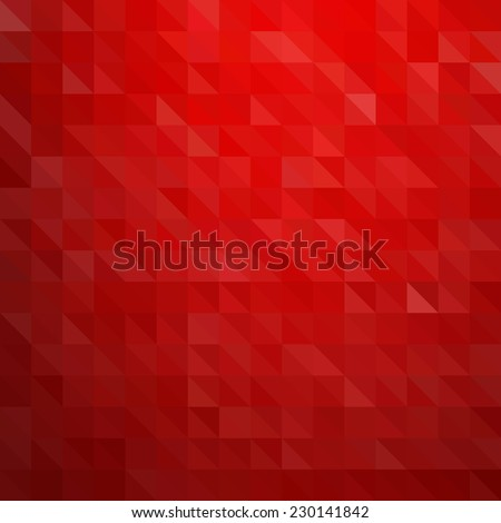 Abstract red geometric background - stock vector