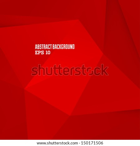 Abstract red geometric background for design - stock vector