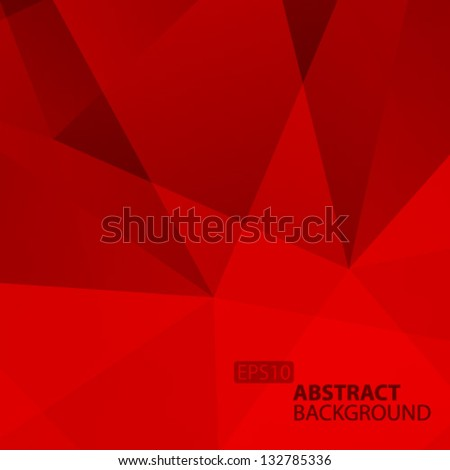 Abstract  Red Geometric Background. Vector Illustration - stock vector