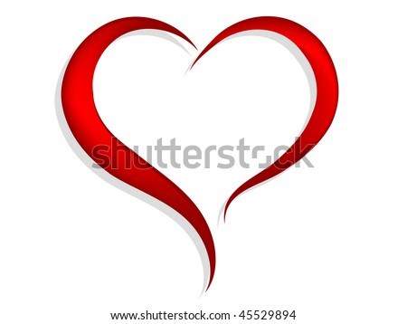 Abstract red heart - vector illustration - stock vector