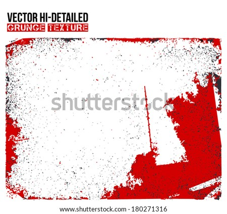 Abstract red hi-detailed grunge background. vector template