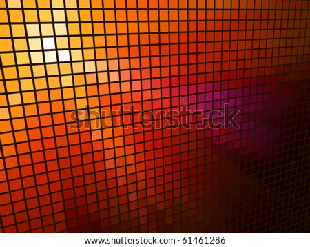 Abstract  red light 3D mosaic horizontal vector background. - stock vector