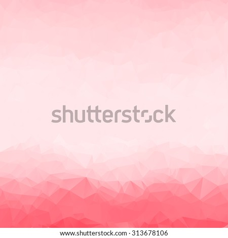 abstract red  polygon background or vector frame. Triangle Geometrical  Vector Illustration EPS10. design for business presentations. luxury Christmas holiday or pale wedding pink white smooth texture - stock vector