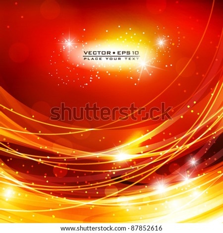 Abstract red shiny background. Vector - stock vector