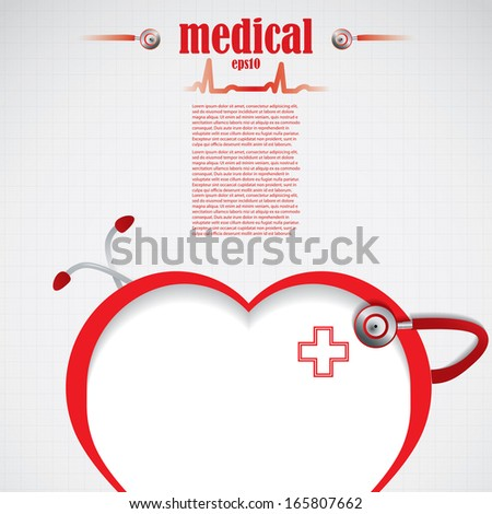 Abstract red silver grid medical background - stock vector