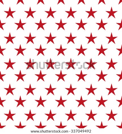 Abstract red stars. Seamless vector background