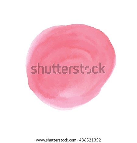 Abstract  red vector watercolor background. Isolated watercolor spots on white background. Vector illustration.