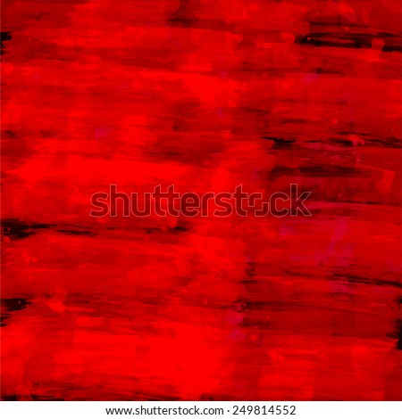 Abstract red watercolor background. Vector illustration. Fantasy design. Grunge texture. Editable template with space for your text. - stock vector
