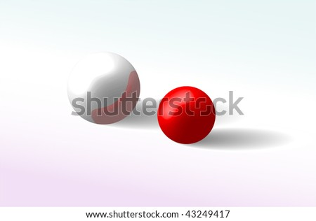 Abstract reflective spheres. Vector illustration.