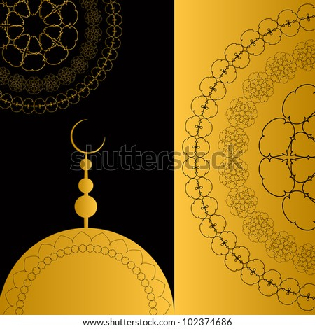 Abstract Religious Background.  Jpeg Version Also Available In Gallery. - stock vector