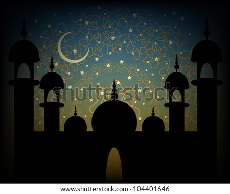 Abstract Religious Eid Background. Jpeg Version Also Available In Gallery. - stock vector
