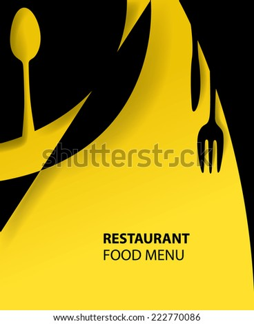 Abstract Restaurant Menu, Food, Fork, Colors (Vector Art) - stock vector