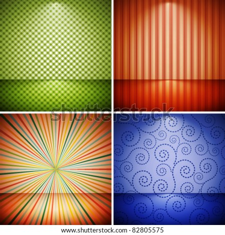 Abstract retro background collection. - stock vector